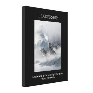 leadership motivational inspiring quote canvas print