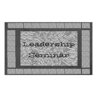 Leadership : Replace your img text Center Piece Print