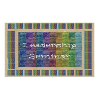 Leadership : Replace your img text Center Piece Poster