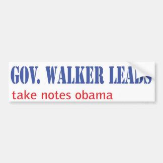 Leadership: Scott Walker style Car Bumper Sticker