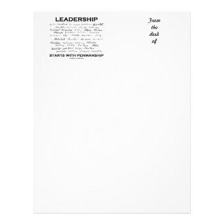 Leadership Starts With Penmanship (Signatures) Letterhead