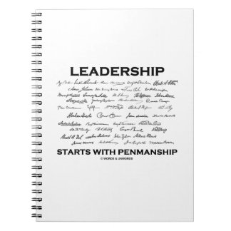Leadership Starts With Penmanship (Signatures) Note Books