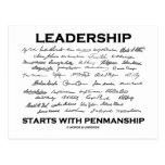 Leadership Starts With Penmanship (Signatures) Postcard