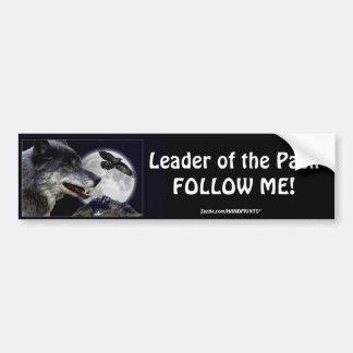 Leadership Wolf & Raven Motivational Bumpersticker Bumper Sticker