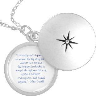 LeadershipQ1 Round Locket Necklace