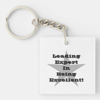 Leading Expert In Being Excellent! And Star. Keychain