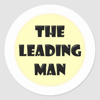 Leading Man Classic Round Sticker