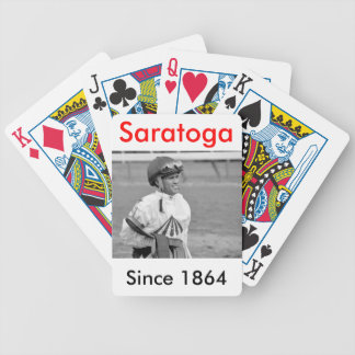 """Leading Rider at Saratoga"" Bicycle Playing Cards"