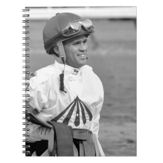 """""""Leading Rider at Saratoga"""" Spiral Notebook"""