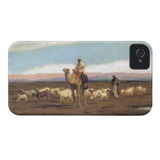 Leading the Flock to Pasture (oil on canvas) iPhone 4 Cover