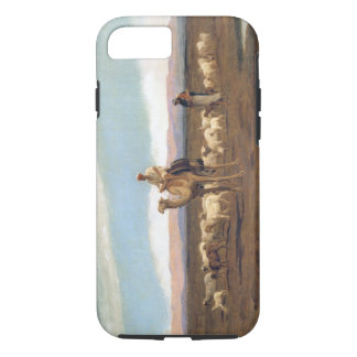 Leading the Flock to Pasture (oil on canvas) iPhone 8/7 Case