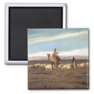Leading the Flock to Pasture (oil on canvas) Magnet