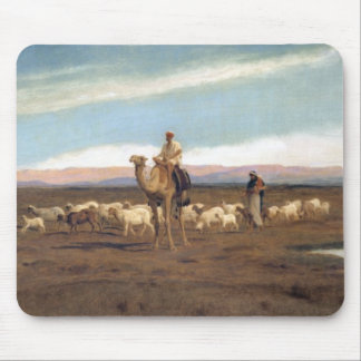 Leading the Flock to Pasture (oil on canvas) Mouse Pad