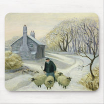 Leading the Sheep Mouse Pad