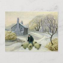 Leading the Sheep Postcard