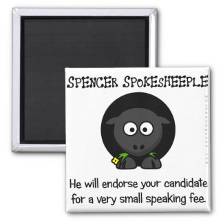 Leading the sheeple to the candidates 2 inch square magnet