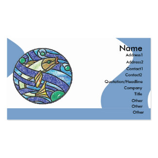 Leadlight Fish Business Card