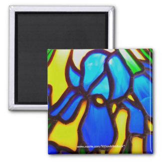 Leadlight Iris - Magnet
