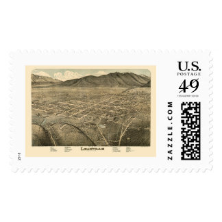 Leadville, CO Panoramic Map - 1879 Postage Stamps