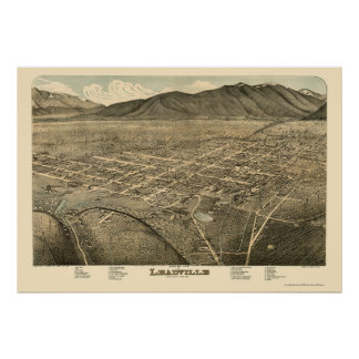 Leadville, CO Panoramic Map - 1879 Poster