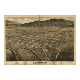 Leadville Colorado 1879 Panoramic Map Poster