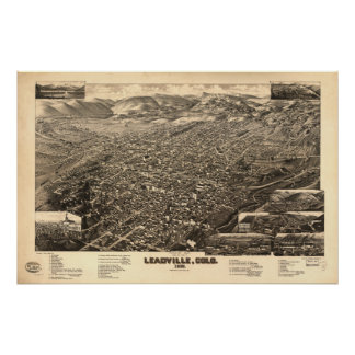 Leadville Colorado 1882 Panoramic Map Poster