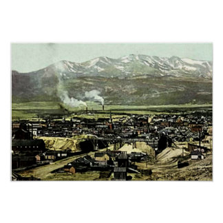 Leadville, Colorado Birdseye View Poster