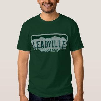 Leadville Colorado guys license plate tee