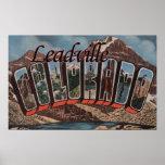 Leadville, Colorado - Large Letter Scenes Poster