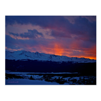 Leadville, Colorado & Mt Massive Sunset Postcard