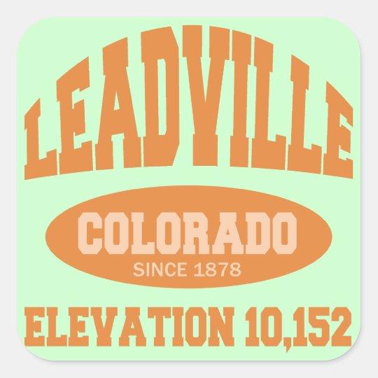 Leadville, Colorado Square Sticker