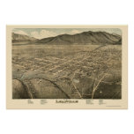 Leadville, mapa panorámico del CO - 1879 Posters