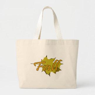 Leaf 1 - Fall Large Tote Bag