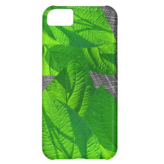 Leaf Abstract on Weave Case For iPhone 5C