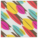 Leaf Abstract Retro Multicolored Pattern Fabric