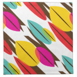 Leaf Abstract Retro Multicolored Pattern Printed Napkin