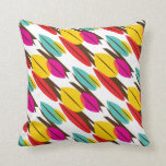 Leaf Abstract Retro Multicolored Pattern Pillows