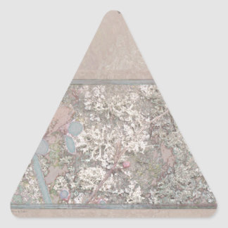 Leaf and Blossoms Elegant Triangle Sticker