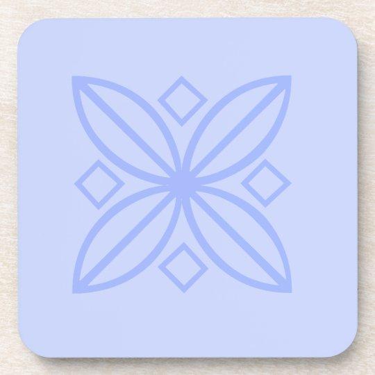 Leaf and diamond design coasters