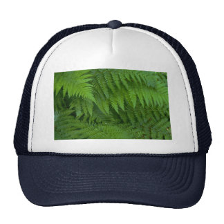 Leaf and flower patterns trucker hats