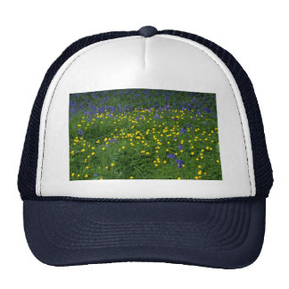 Leaf and flower patterns hat