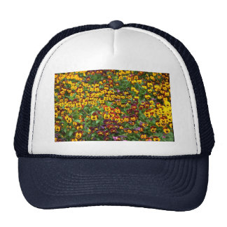 Leaf and flower patterns mesh hats