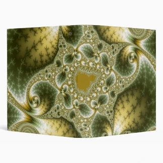 Leaf And Gold - Fractal Art Binder