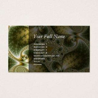Leaf And Gold - Fractal Art Business Card