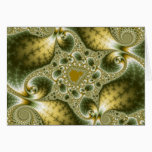 Leaf And Gold - Fractal Art Card