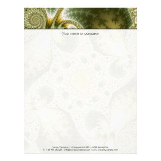 Leaf And Gold - Fractal Art Letterhead
