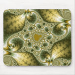 Leaf And Gold - Fractal Art Mouse Pad