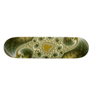 Leaf And Gold - Fractal Art Skateboard Deck