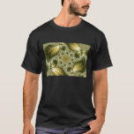 Leaf And Gold - Fractal Art T-Shirt