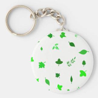Leaf and Green Keychain